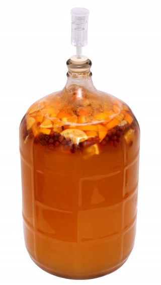 Honey-Fruit-Mead-Brewing