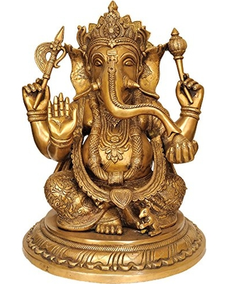 lord-ganesha-wearing-a-beautiful-crown-brass-statue